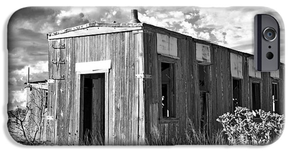 Cabin Window iPhone Cases - Cuervo New Mexico after the Storm iPhone Case by Lee Craig
