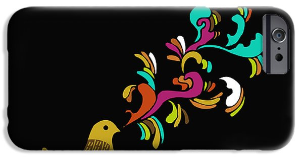 Whimsical Birds iPhone Cases - Cui cui iPhone Case by Budi Satria Kwan