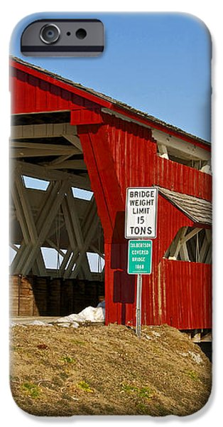 Culbertson or Treacle Creek Covered Bridge iPhone Case by Jack R Perry