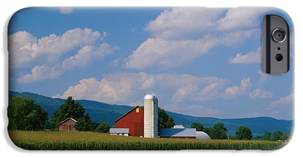 Amish iPhone Cases - Cultivated Field In Front Of A Barn iPhone Case by Panoramic Images
