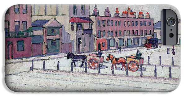 Town Square iPhone Cases - Cumberland Market North Side iPhone Case by Robert Polhill Bevan
