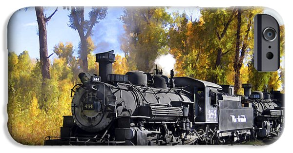 Railway Locomotive iPhone Cases - Cumbres and Toltec Railroad iPhone Case by Kurt Van Wagner
