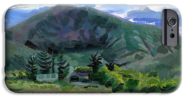 Catherine White Paintings iPhone Cases - Cumeen Mountain from Tularee Dingle on Irelands Wild Atlantic Way iPhone Case by Catherine Considine