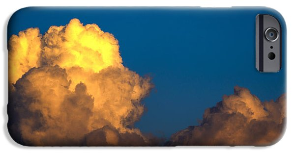 Super Moon iPhone Cases - Cumulonimbus Cloud  and Full Moon iPhone Case by Thomas R Fletcher