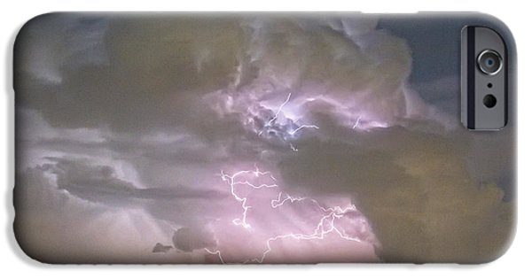 The Lightning Man iPhone Cases - Cumulonimbus Cloud Explosion Portrait iPhone Case by James BO  Insogna