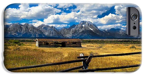 Log Cabin Photographs iPhone Cases - Cunningham Cabin iPhone Case by Robert Bales