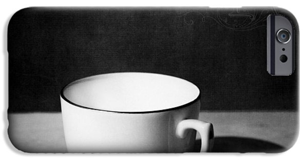 Coffee Drinking iPhone Cases - Cup and Shadow iPhone Case by Ian Barber