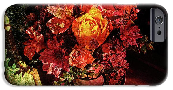 Floral Digital Art Digital Art iPhone Cases - Cup of Sunshine iPhone Case by Lianne Schneider