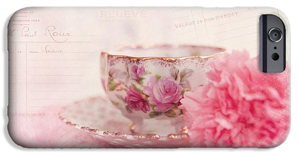 Kay Pickens iPhone Cases - Cup of Tea iPhone Case by Kay Pickens