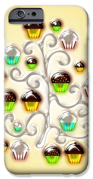 Winter iPhone Cases - Cupcake Glass Tree iPhone Case by Anastasiya Malakhova