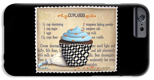 Catherine White Paintings iPhone Cases - Cupcake Masterpiece iPhone Case by Catherine Holman