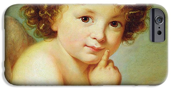 Young Paintings iPhone Cases - Cupid iPhone Case by Elisabeth Louise Vigee-Lebrun