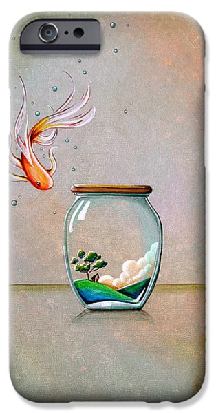 Goldfish iPhone Cases - Curiosity iPhone Case by Cindy Thornton