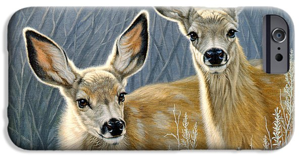 Fawn iPhone Cases - Curious Pair iPhone Case by Paul Krapf