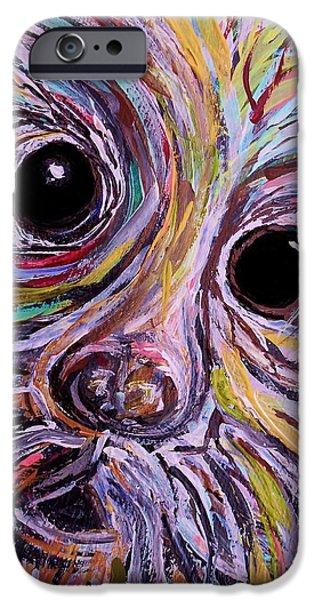 Curious Schnauzer iPhone Case by Eloise Schneider