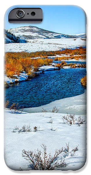 Currant Creek on Ice iPhone Case by Chad Dutson