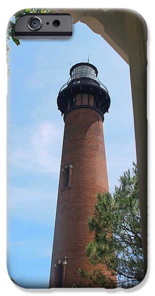 Marine iPhone Cases - Currituck Light 2 iPhone Case by Cathy Lindsey