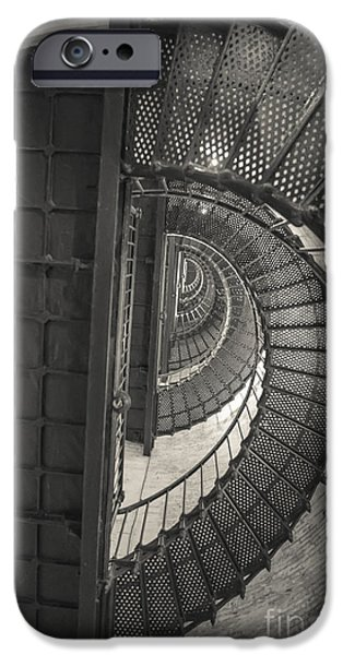 Kaypickens.com iPhone Cases - Currituck Lighthouse Stairs iPhone Case by Kay Pickens