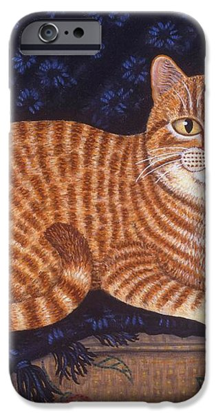 Curry the Cat iPhone Case by Linda Mears