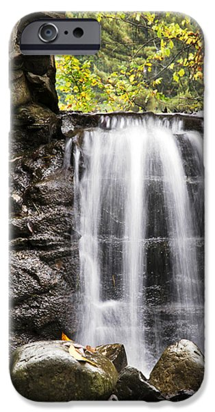 Nature Scene iPhone Cases - Curtain Mist Waterfall iPhone Case by Christina Rollo
