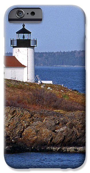 CURTIS ISLAND LIGHTHOUSE iPhone Case by Skip Willits