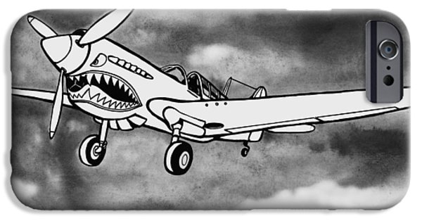 Scott Nelson And Son iPhone Cases - Curtiss P-40 Warhawk 2 iPhone Case by Scott Nelson