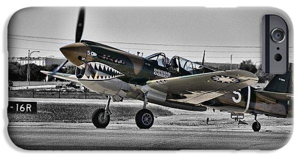 Curtiss iPhone Cases - Curtiss P-40e Warhawk V3 iPhone Case by Douglas Barnard