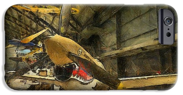 Curtiss iPhone Cases - Curtiss P40 Warhawk iPhone Case by Dan Sproul