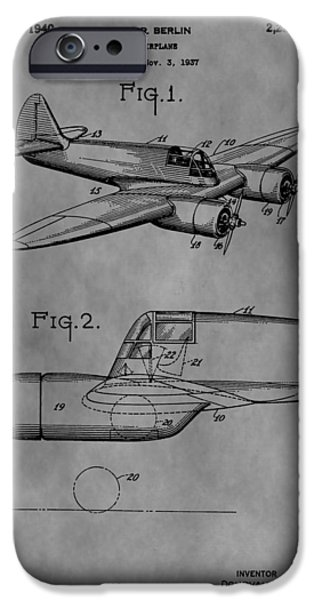 Curtiss iPhone Cases - Curtiss-Wright Jeep Patent iPhone Case by Dan Sproul