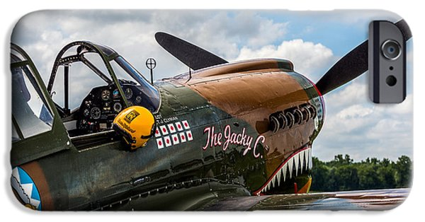 Curtiss iPhone Cases - Curtiss-Wright P40 Warhawk  iPhone Case by Mark Papke