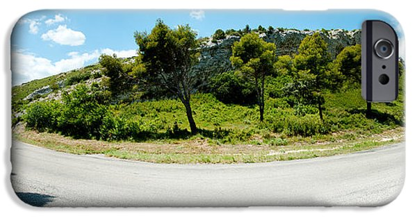 Rhone Alpes iPhone Cases - Curve In The Road, Bouches-du-rhone iPhone Case by Panoramic Images