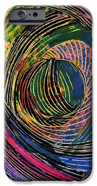Best Sellers -  - Business Pastels iPhone Cases - Curved Lines 6 iPhone Case by Sarah Loft