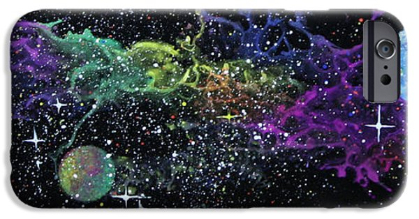 Outer Space Glass Art iPhone Cases - Curved Space iPhone Case by Wolfgang Finger
