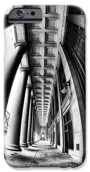 Windy City iPhone Cases - Curves at Union Station iPhone Case by John Rizzuto