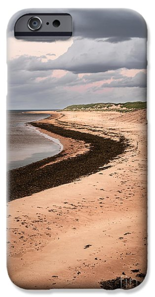 Beach Landscape iPhone Cases - Curves on beach iPhone Case by Elena Elisseeva