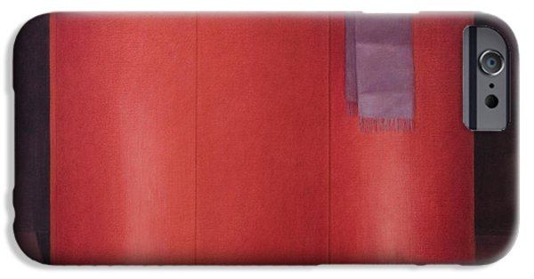Furniture Photographs iPhone Cases - Curving Red Lacquer Screen iPhone Case by Lincoln Seligman
