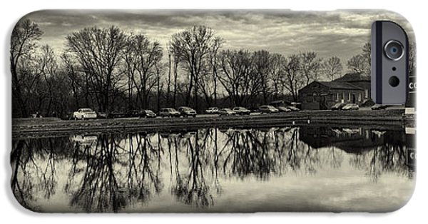 Maryland Barn Photographs iPhone Cases - Cushwa Basin C and O canal Black and White iPhone Case by Joshua House