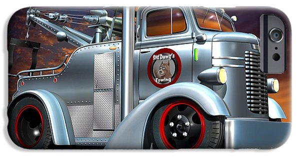 Tow Truck iPhone Cases - Custom COE Tow Truck iPhone Case by Stuart Swartz