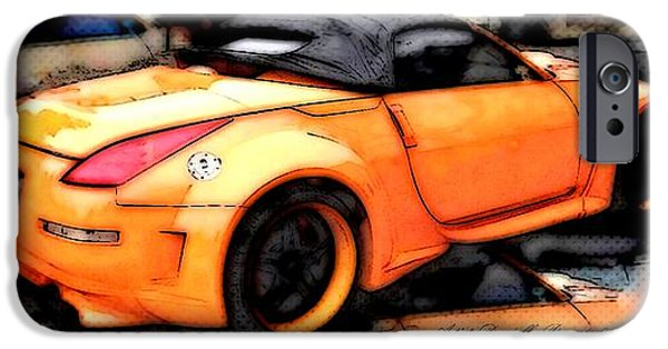 Technical iPhone Cases - Custom Orange Sports Car iPhone Case by Danielle  Parent