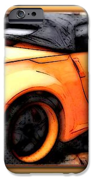 Custom Orange Sports Car iPhone Case by Danielle  Parent