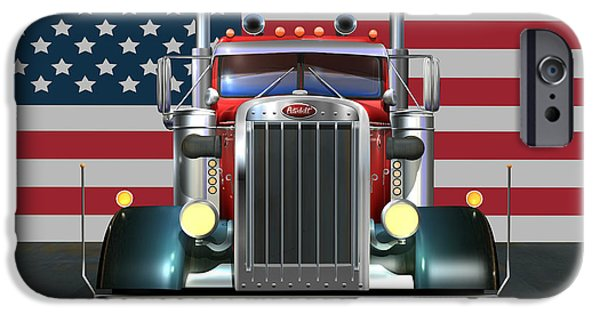 4th Of July iPhone Cases - Custom Peterbilt 2 iPhone Case by Stuart Swartz