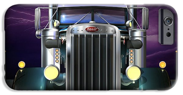 Custom Made iPhone Cases - Custom Peterbilt 3 iPhone Case by Stuart Swartz