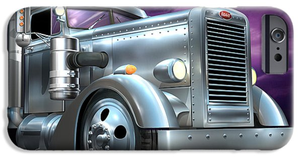 Custom Made iPhone Cases - Custom Peterbilt Silver Ghost iPhone Case by Stuart Swartz