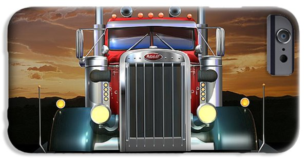 Custom Made iPhone Cases - Custom Peterbilt iPhone Case by Stuart Swartz