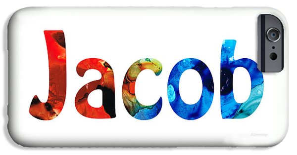 Customized iPhone Cases - Customized Baby Kids Adults Pets Names - Jacob 5 Name iPhone Case by Sharon Cummings