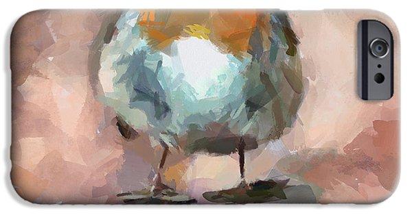 House Pet Digital Art iPhone Cases - Cute Bird 2 iPhone Case by Yury Malkov