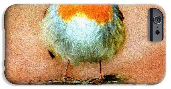 House Pet Digital Art iPhone Cases - Cute Bird iPhone Case by Yury Malkov