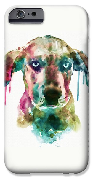 Four Animal Faces iPhone Cases - Cute Doggy iPhone Case by Marian Voicu