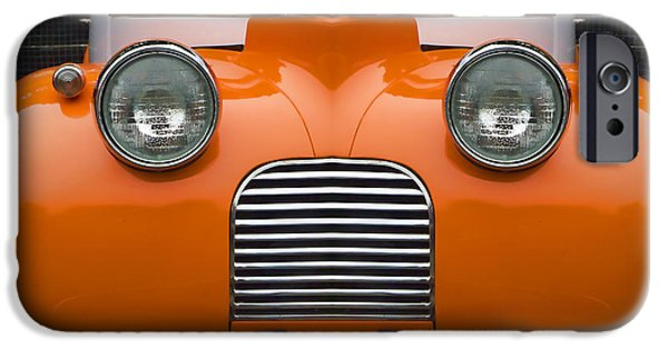 Clever iPhone Cases - Cute Little Car Faces Number 5 iPhone Case by Carol Leigh