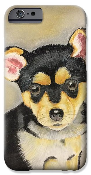 Puppies Pastels iPhone Cases - Cute Puppy iPhone Case by Brian White